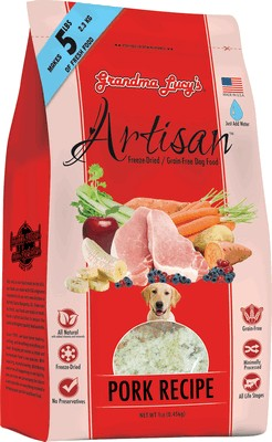 Grandma Lucy's Artisan Grain Free Freeze Dried Pork Dog Food