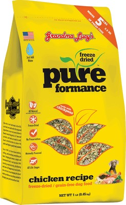 Grandma Lucy's Pureformance Grain Free Freeze Dried Chicken Dog Food