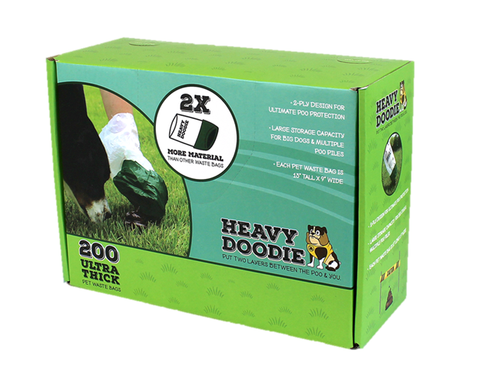 Alcott Heavy Doodie Ultra Thick Dog Waste Bags 200 ct Box