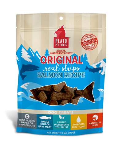 Plato Pet Treats Real Salmon Strips