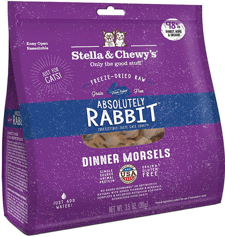 Stella & Chewy's Freeze Dried Raw Dinner for Cats Absolutely Rabbit Dinner Morsels