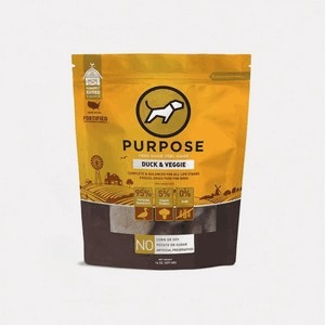 Purpose pet food freeze dried duck/vegetable 14oz patties