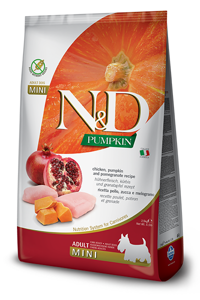 Farmina N&D Pumpkin GF Canine Chicken & Pomegranate Recipe Adult Kibble - Small Breed