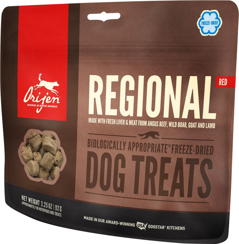 Orijen Freeze Dried Dog Treats- Regional Red