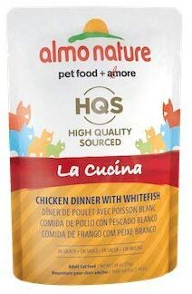 46246 Almo Nature USA HQS La Cucina Pouch Chicken with Whitefish Surimi in Gravy 24/1.94oz