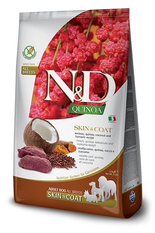 Farmina N&D Quinoa Functional Canine Skin & Coat Kibble - Venison Recipe
