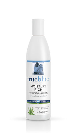 True Blue Moisture Rich Conditioning Crème With Aloe, Avocado, Lemongrass, and Silk and Wheat Proteins 12 oz Bottle