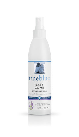 True Blue Easy Comb Detangling Spray - 8.7 oz Bottle  - With Lavender, Olive Extract, and Pro-Vitamin B