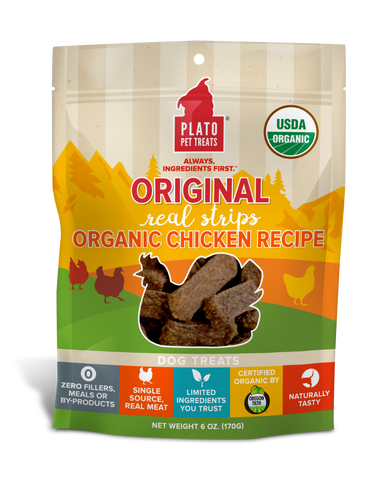Plato Pet Treats Organic Chicken Strips