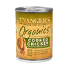 Evanger's Organics Grain-Free Cooked Chicken Dog Food 12 pk cans /13 oz