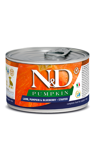 Farmina N&D Pumpkin GF Canine Starter Puppy Wet Food - Lamb, Pumpkin & Blueberry Recipe