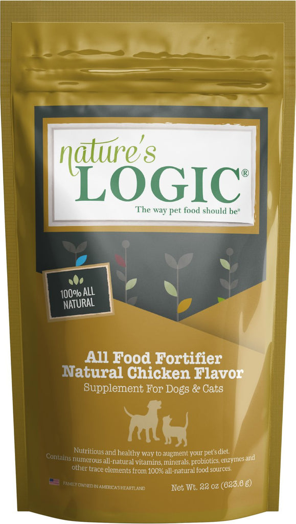 Nature's Logic All Food Fortifier Natural Chicken Flavor for Cats and Dogs 12 oz Bag
