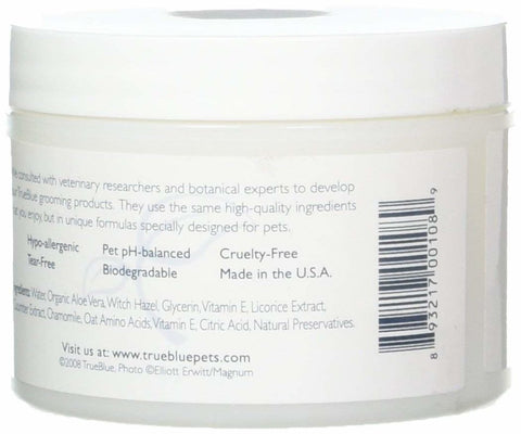 True Blue Safe & Sure Eye Wipes - 50 per jar -  With Cucumber, Witch Hazel and Chamomile