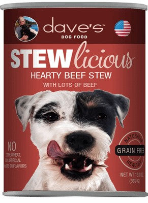 Daves Pet Food Stewlicious Hearty Beef Stew 12/13oz