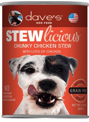 Daves Pet Food Stewlicious Chunky Chicken Stew 12/13oz