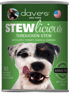 Daves Pet Food Stewlicious Turducken Stew 12/13oz
