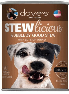 Daves Pet Food Stewlicious Gobbledy Good Stew 12/13oz