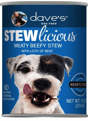 Daves Pet Food Stewlicious Meaty Beefy Stew 12/13oz