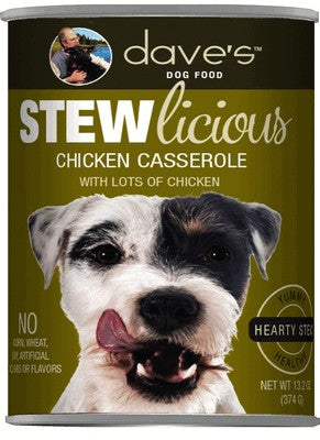 Daves Pet Food Stewlicious Chicken Casserole 12/13oz