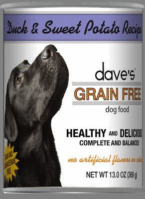 Daves Pet Food Grain Free Duck and Sweet Potato Recipe 12/13oz