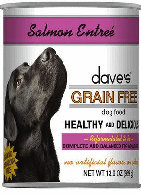 Daves Pet Food Grain Free Salmon Entree 12/13oz
