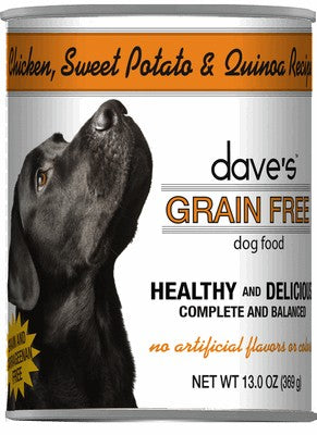 Daves Pet Food Grain Free Chicken, Sweet Potato and Quinoa 12/13oz