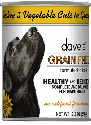 Daves Pet Food Grain Free Chicken and Vegetable Cuts in Gravy 12/13.2oz