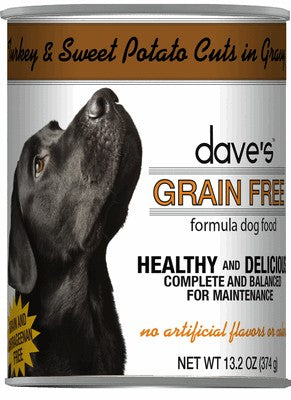 Daves Pet Food Grain Free Turkey and Sweet Potato Cuts in Gravy 12/13.2oz