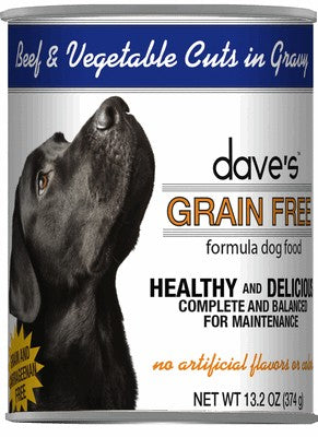 Daves Pet Food Grain Free Beef and Vegetable Cuts in Gravy 12/13.2oz