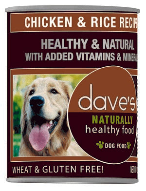 Daves Pet Food Naturally Healthy, Chicken and Rice 12/13oz