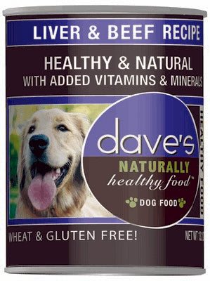 Daves Pet Food Naturally Healthy, Liver and Beef 12/13oz