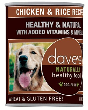 Daves Pet Food Naturally Healthy, Chicken and Rice 12/22oz