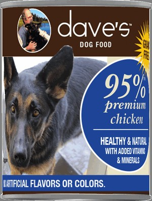 Daves Pet Food Premium Chicken 95% Meat 12/13oz