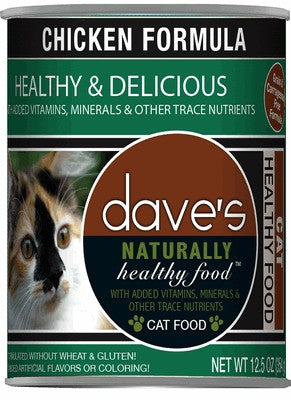 Daves Pet Food Naturally Healthy Chicken Formula 12 oz Can - Case of 12