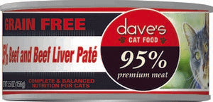 Daves Pet Food 95% Beef & Beef Liver Pate Formula 24/5.5oz