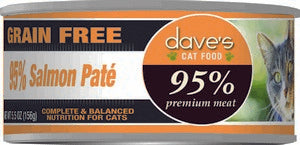 Daves Pet Food 95% Salmon Pate Formula 24/5.5oz