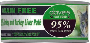 Daves Pet Food 95% Turkey & Turkey Liver  Pate Formula 24/5.5oz