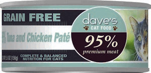 Daves Pet Food 95% Tuna & Chicken Pate Formula 24/5.5oz