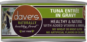 Daves Pet Food Naturally Healthy, Tuna Entree in Gravy 24/5.5 oz