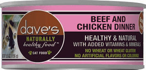 Daves Pet Food Naturally Healthy, Beef & Chicken Dinner 24/5.5oz