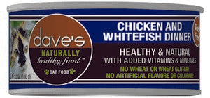 Daves Pet Food Naturally Healthy, Chicken & White Fish Dinner 24/5.5oz