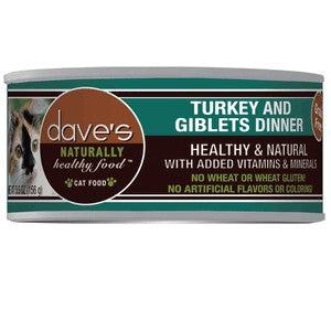 Daves Pet Food Naturally Healthy, Turkey & Giblets Dinner 24/5.5oz