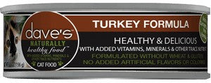Daves Pet Food Naturally Healthy, Turkey Formula 24/5.5oz