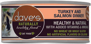 Daves Pet Food Naturally Healthy, Turkey & Salmon Dinner 24/5.5oz