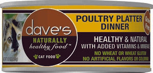 Daves Pet Food Naturally Healthy, Poultry Platter Dinner 24/5.5oz