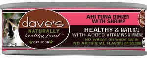 Daves Pet Food Naturally Healthy, Ahi Tuna / Shrimp 24/5.5oz