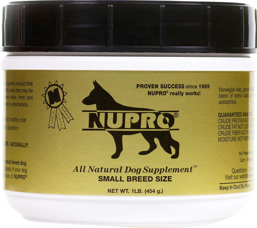 NUPRO Natural 'Original Gold' Supplement for Small Dogs 1 lb Jar