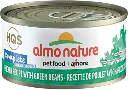 46237 Almo Nature USA HQS Chicken Recipe with Green Bean in Gravy 24/2.47oz