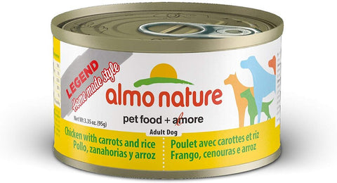 46279 Almo Nature USA HQS Dog Legend HMS Chicken with Carrots 24/3.35oz