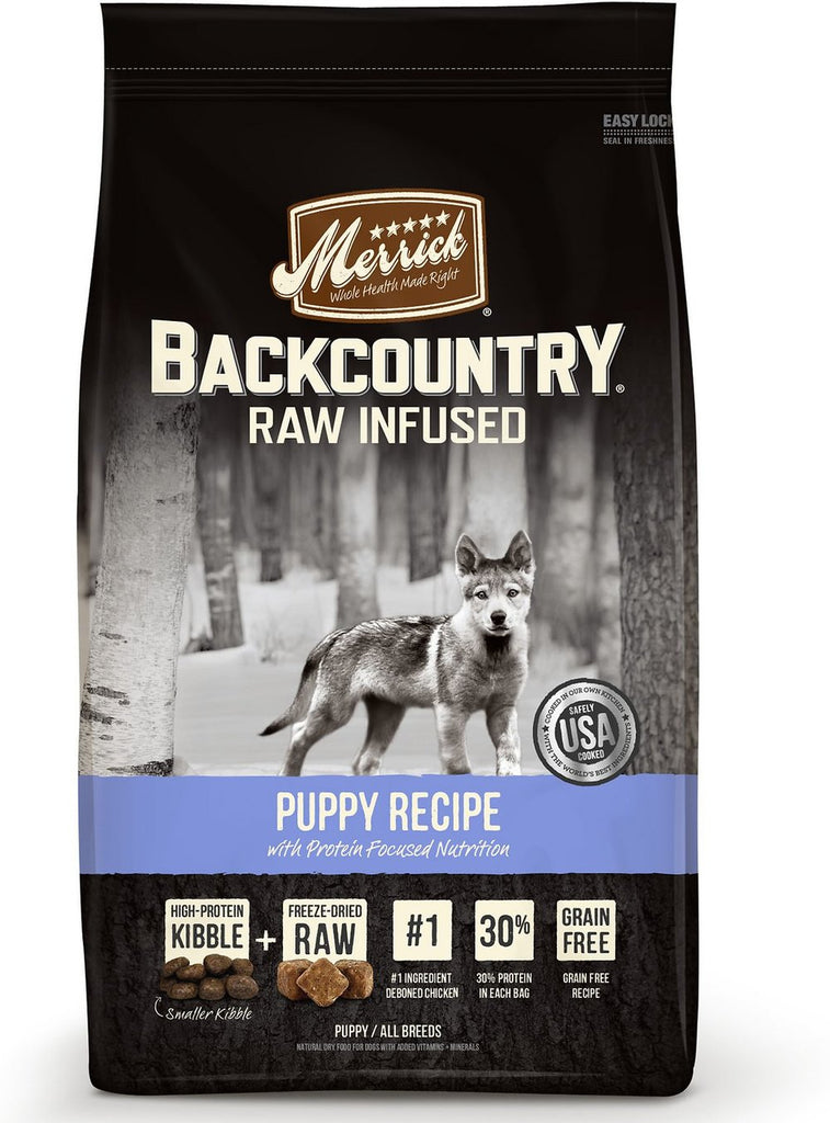 Merrick Backcountry Raw Infused Puppy Recipe Grain Free Dry Dog Food